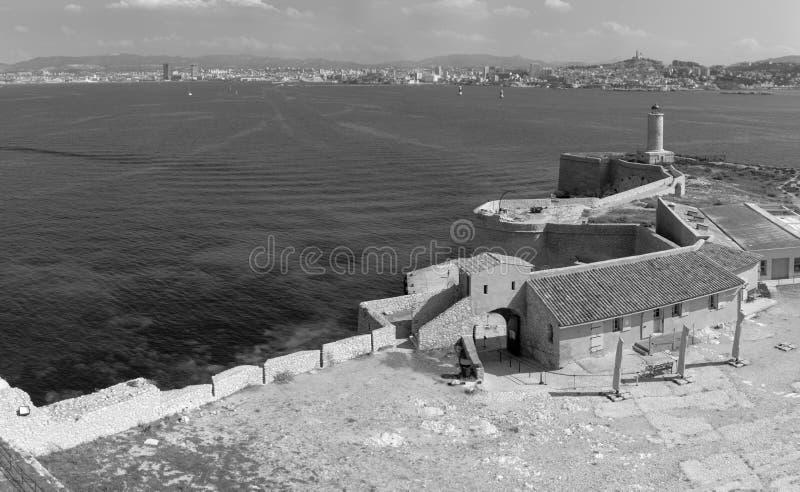 Ansicht über Marseille, Frankreich stockbild