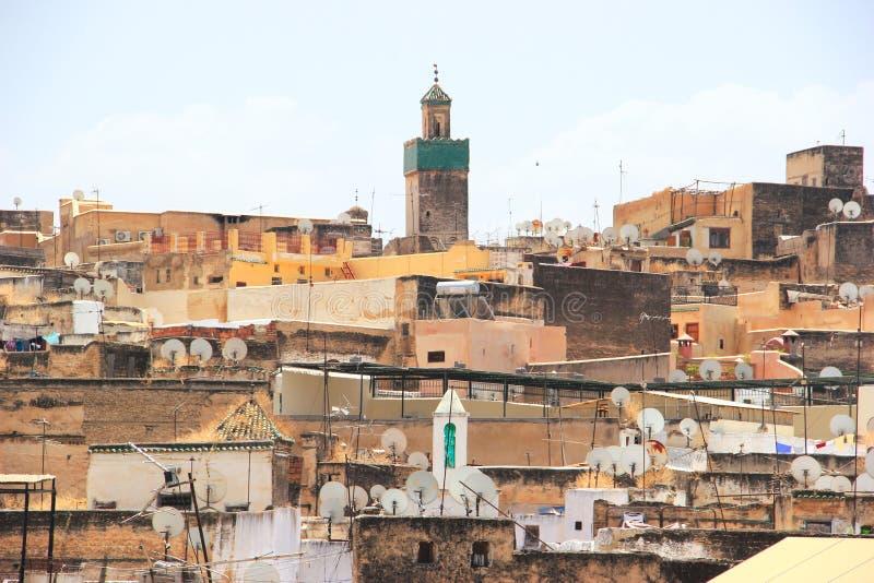 Ansicht über Medina von Fes, Marokko lizenzfreies stockbild