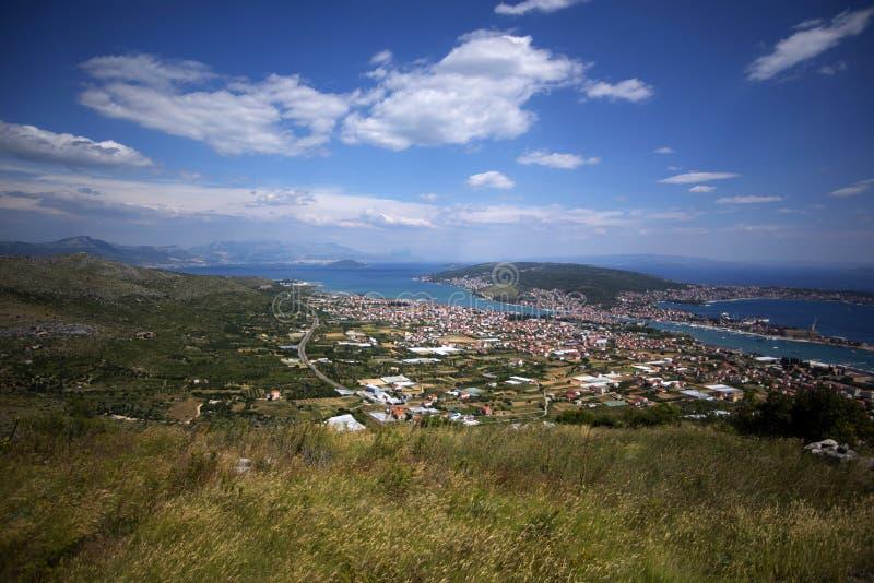 Ansicht über Mittel-Dalmatien stockfotos