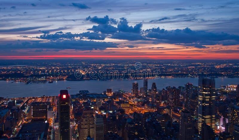 Ansicht über New York und New-Jersey stockfoto