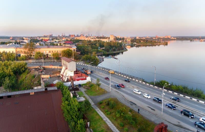Ansicht über Nizhny Tagil Russland lizenzfreie stockfotos