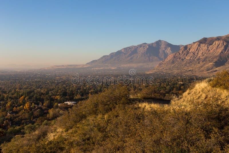 Ansicht über Ogden Utah stockbild