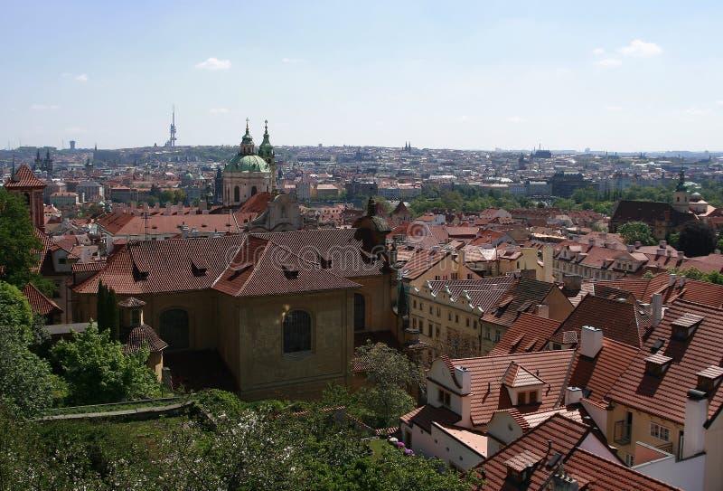 Ansicht über Prag stockbilder