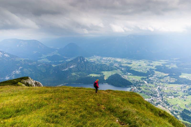 Ansicht über See Altaussee von der Verliererspitze ?sterreich stockfoto