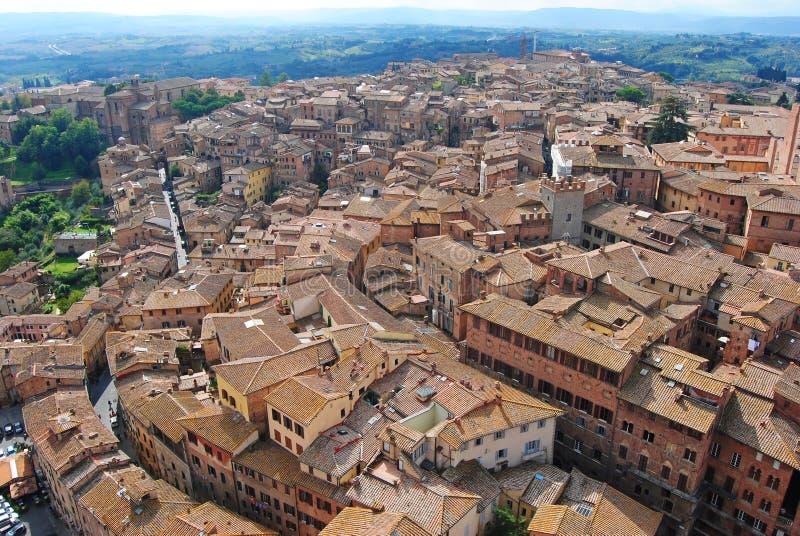 Ansicht über Siena in Italien lizenzfreies stockfoto