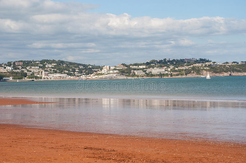 Ansicht über Tor Bay stockfoto