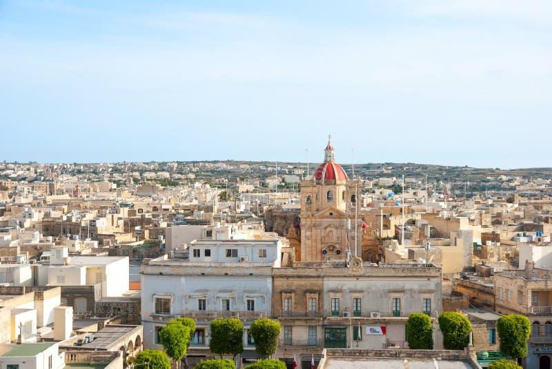 Ansicht über Victoria, Gozo-Insel, Malta lizenzfreie stockfotos