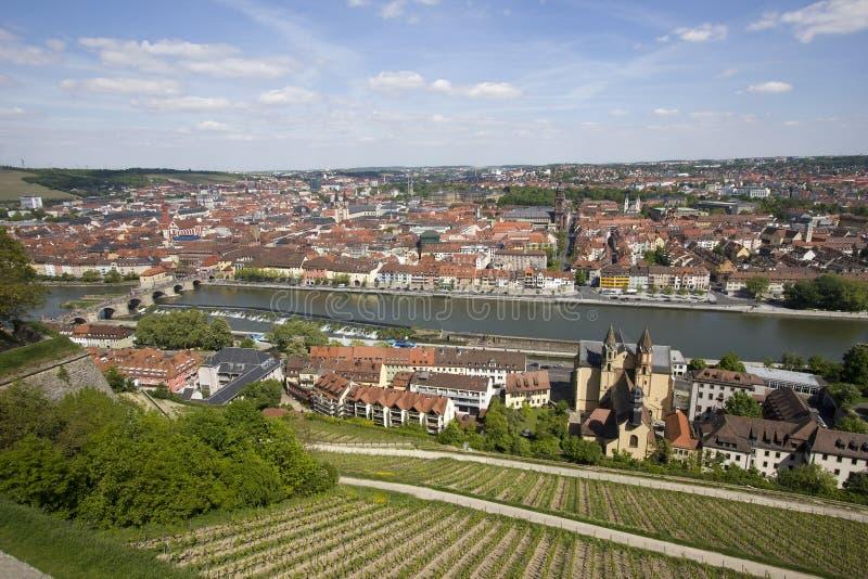 Ansicht über Würzburg, Deutschland stockfotos