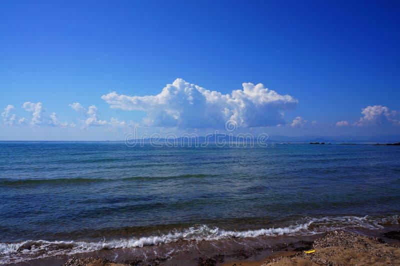 Ansicht über Zakyntos-Insel lizenzfreie stockbilder