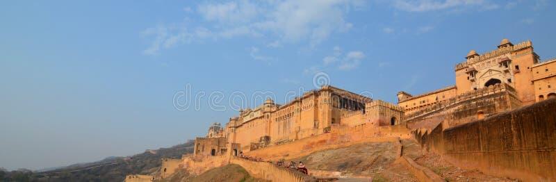 Ansicht Amer Palaces (oder Amer Forts) jaipur Rajasthan Indien stockbild