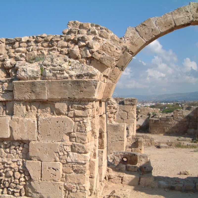 Ansicht archäologischer Fundstätte Kourio stockbilder