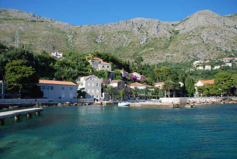 Ansicht bei Mlini, Kroatien stockfotografie