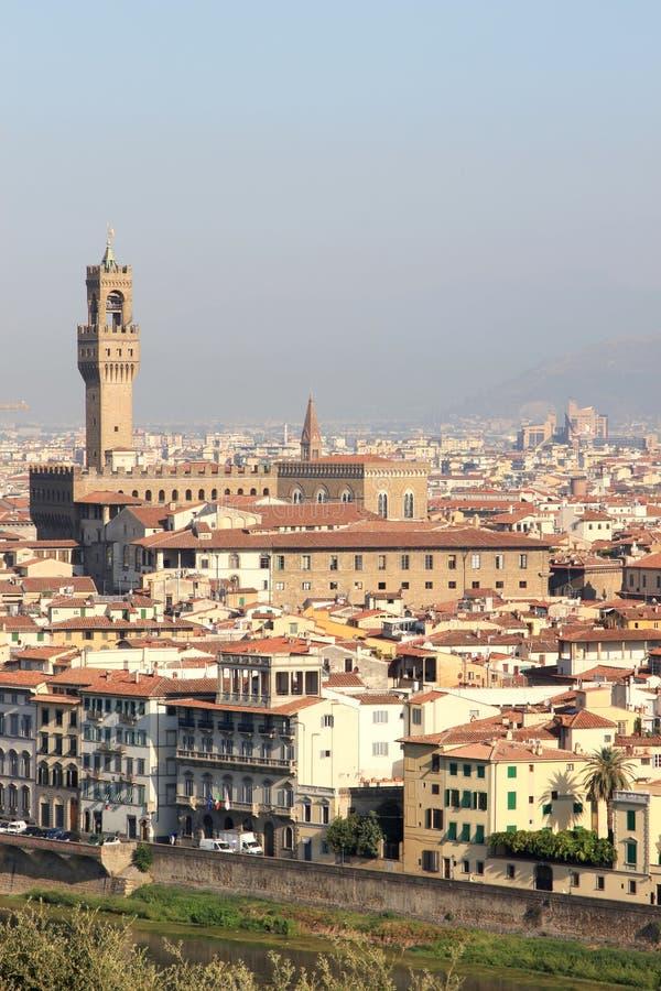 Ansicht beim Palazzo Vecchio in Florenz, Italien lizenzfreies stockbild