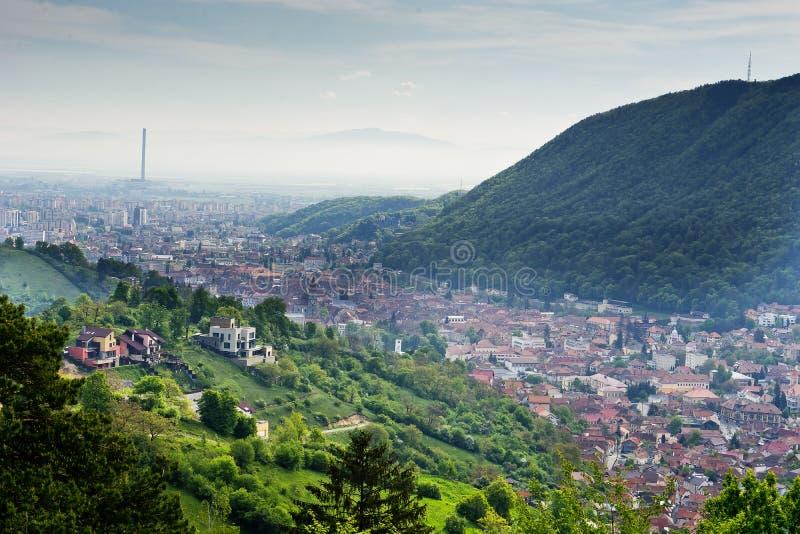 Ansicht Brasov Rumänien lizenzfreies stockfoto