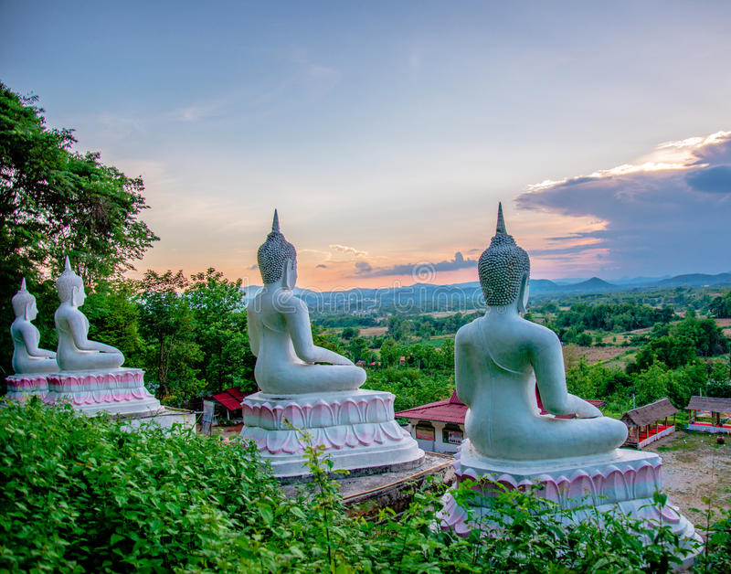 Ansicht-Buddha-Statue stockfoto