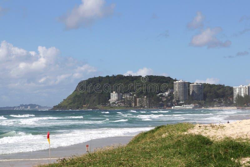 Ansicht an Burleigh-Köpfen an den Surfern Paradies, Gold Coast, Queensland Australien stockfotos