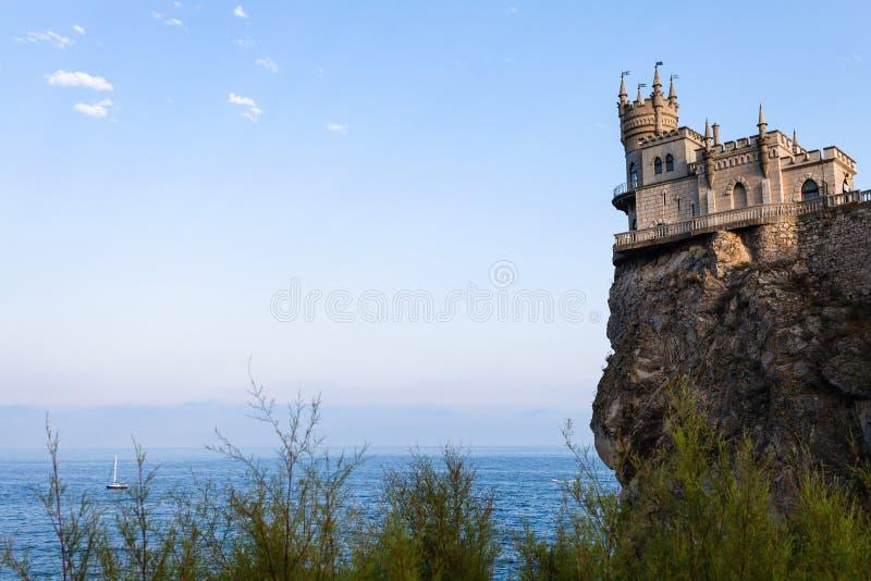 Ansicht das Nest-des Schlosses der Schwalbe auf Aurora Cliff stockbilder