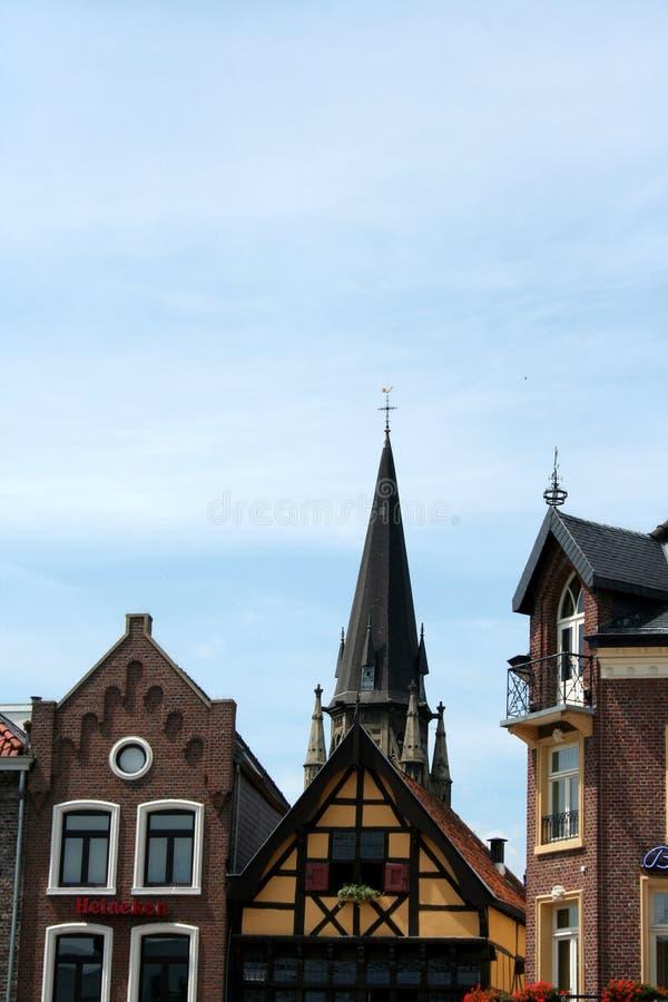 Ansicht an den Fassaden in Sittard lizenzfreie stockfotografie
