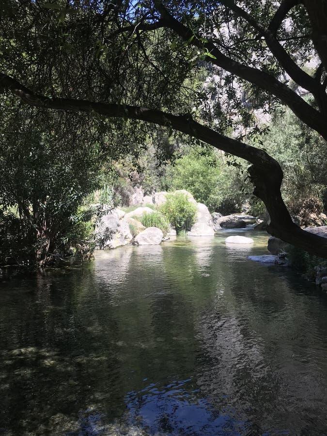 Ansicht der Algarian-F?lle, Spanien stockfotografie