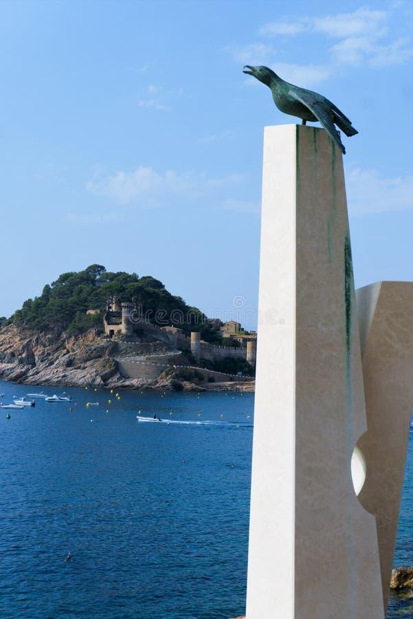 Ansicht der alten Festung in der Stadt von Tossa de Mar lizenzfreies stockbild