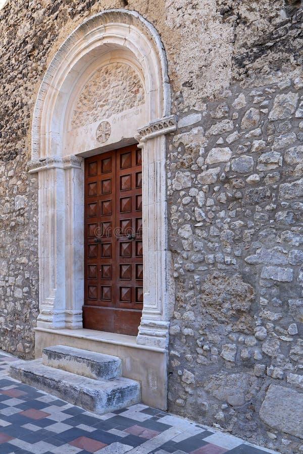 Ansicht der alten Stadt - Corfinio, L'Aquila, Abruzzo lizenzfreie stockfotos
