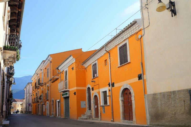 Ansicht der alten Stadt - Corfinio, L'Aquila, in der Region von Abruzzo - Italien stockbild