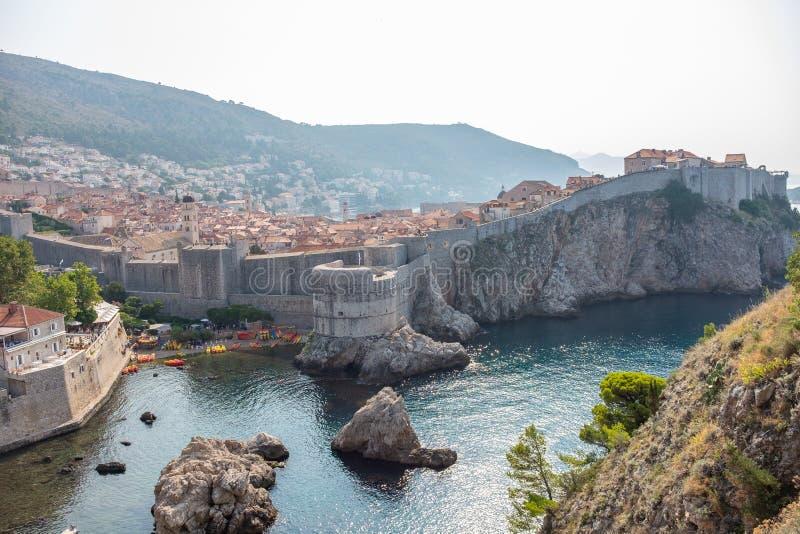 Ansicht der alten Stadt von Dubrovnik stockfotografie