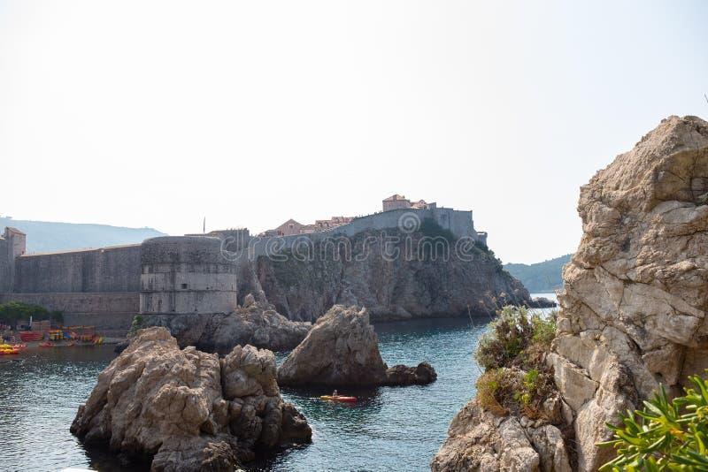 Ansicht der alten Stadt von Dubrovnik lizenzfreies stockfoto