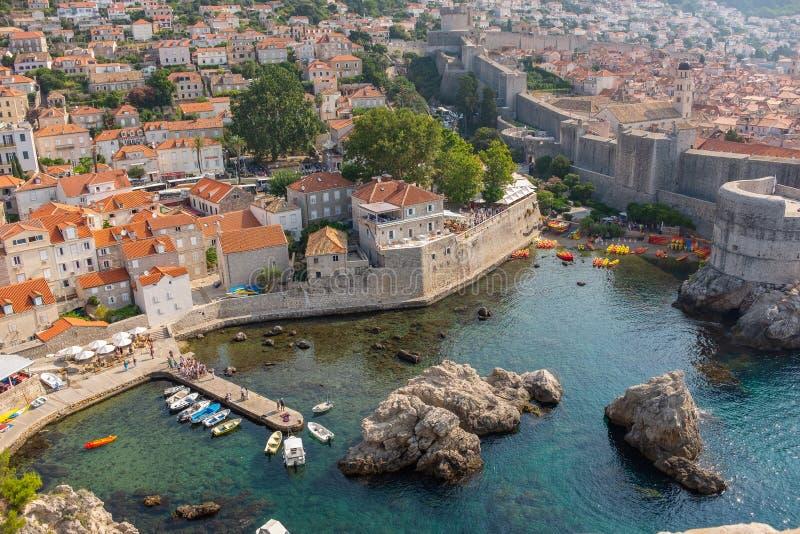 Ansicht der alten Stadt von Dubrovnik lizenzfreie stockbilder