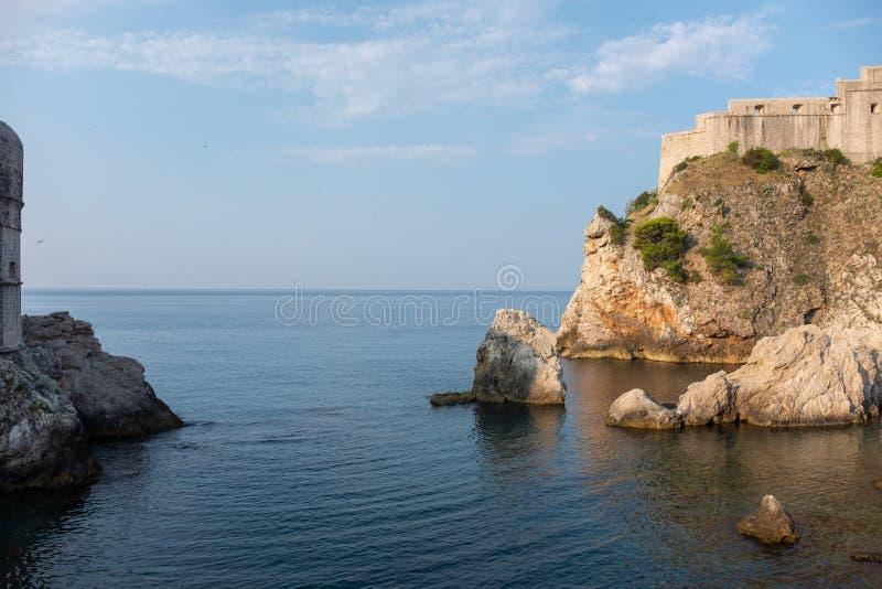 Ansicht der alten Stadt von Dubrovnik stockfotos