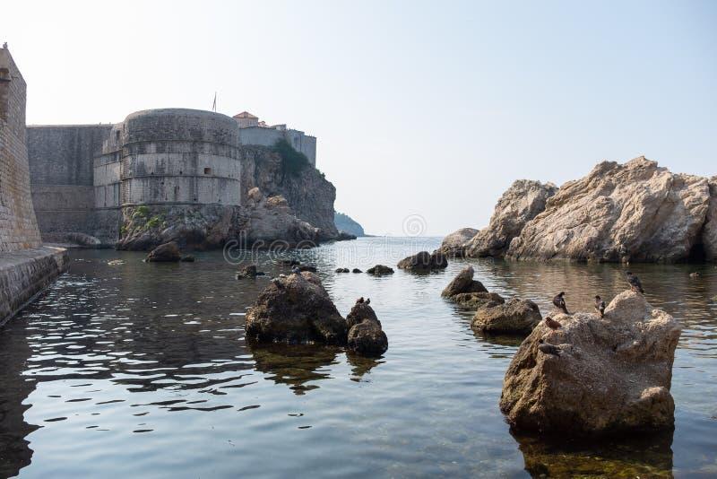 Ansicht der alten Stadt von Dubrovnik lizenzfreie stockfotos