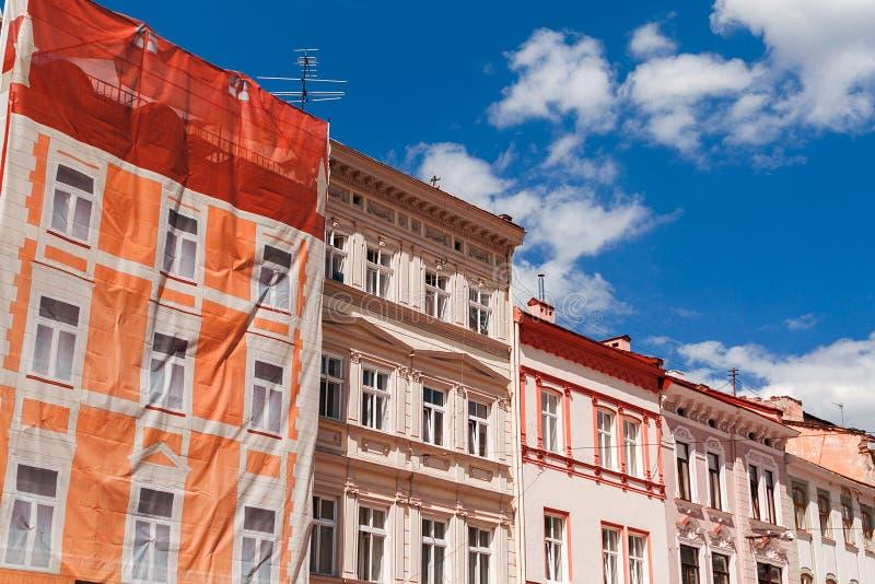 Ansicht der alten Stadt von Lvov stockbild