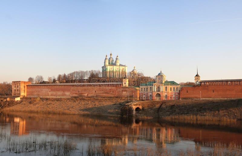 Ansicht der Annahme-Kathedrale. Smolensk. stockfotografie