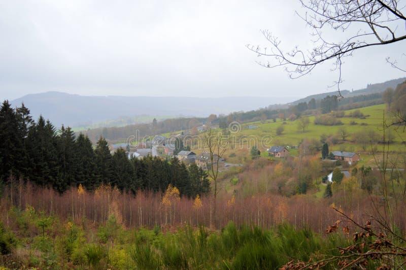 Ansicht der Ardennen in Belgien lizenzfreies stockbild