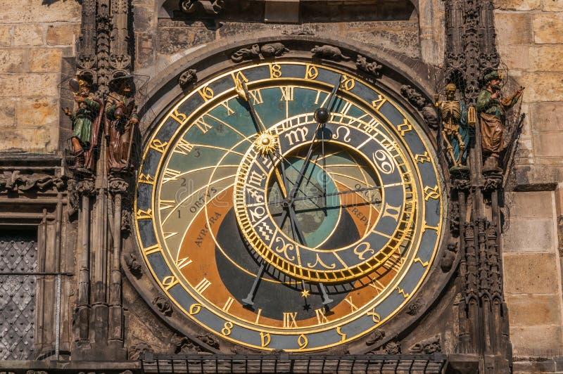 Ansicht der astronomischen Uhr stockfotografie