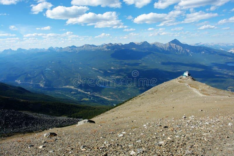 Ansicht der Berge stockbild