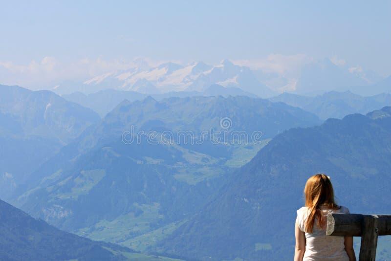 Ansicht der Berge vom Rigi, die Schweiz. lizenzfreie stockbilder