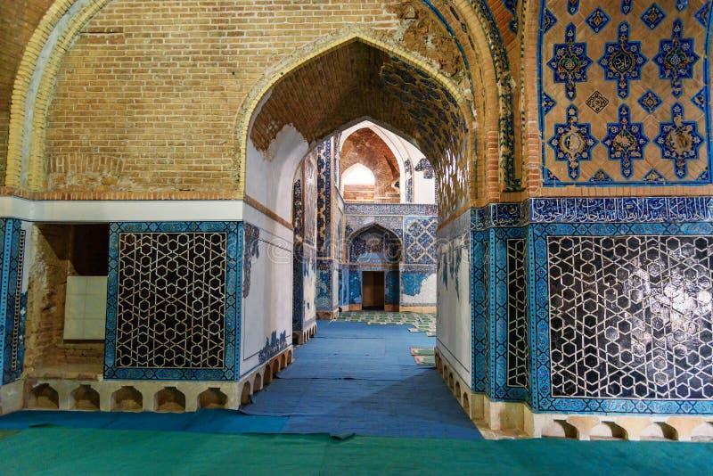 Ansicht der blauen Innenmoschee in Tabriz Ost-Aserbaidschan-Provinz iran stockbilder