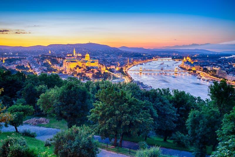 Ansicht der Budapest-Stadt lizenzfreie stockfotos