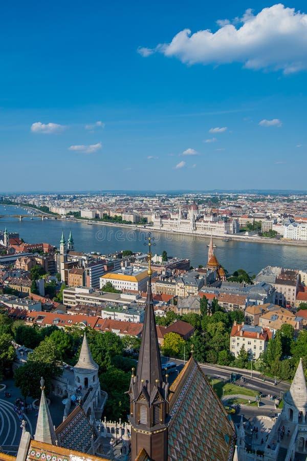 Ansicht der Budapest-Stadt lizenzfreies stockbild