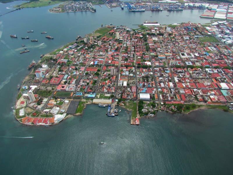 Ansicht der Doppelpunkt-Stadt, Panama stockfotografie