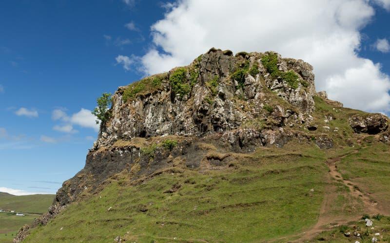 Ansicht der Fee Glenn, auf Insel von Skye, Schottland lizenzfreie stockfotos