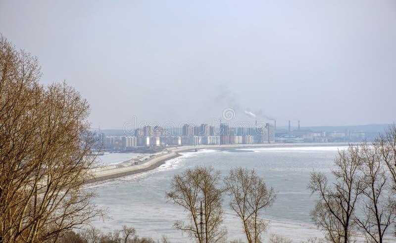 Ansicht der Fluss Amur und der Verdammung stockfotos