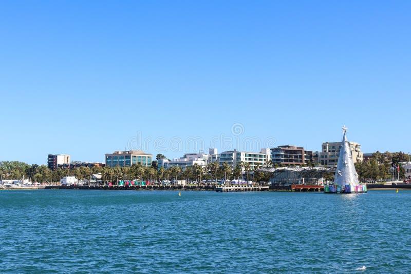 Ansicht der Geelong-Ufergegend von Cunningham Pier lizenzfreie stockfotos