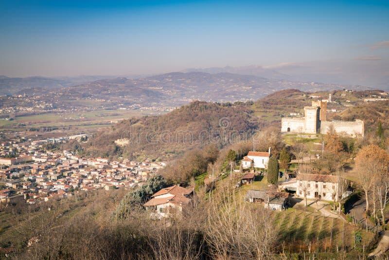Ansicht der Hügel von Montecchio Maggiore Vicenza, Italien lizenzfreie stockbilder