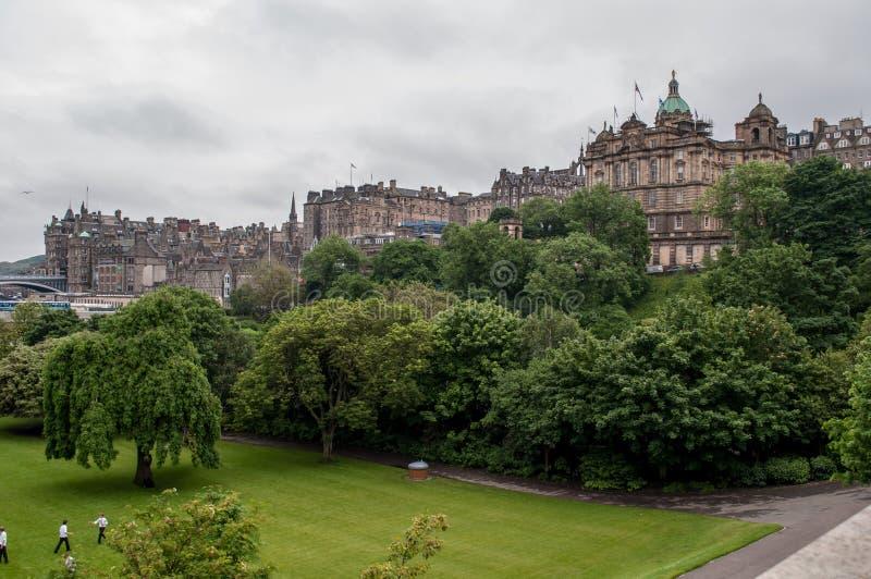 Ansicht der historischen Mitte von Edinburgh in Schottland stockfoto