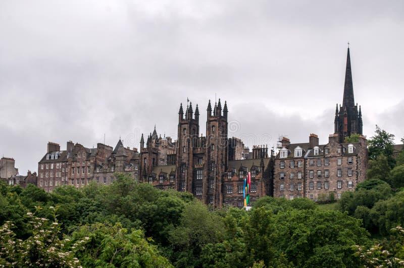 Ansicht der historischen Mitte von Edinburgh in Schottland stockfotografie