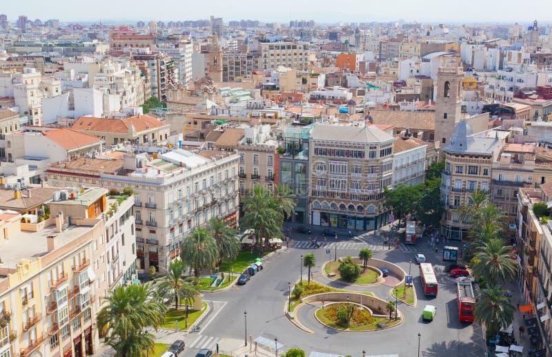 Ansicht der historischen Mitte von Valencia stockbilder