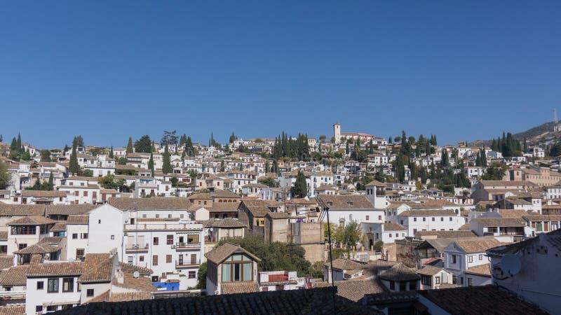 Ansicht der historischen Stadt Albaicin Granada, Spanien lizenzfreie stockbilder
