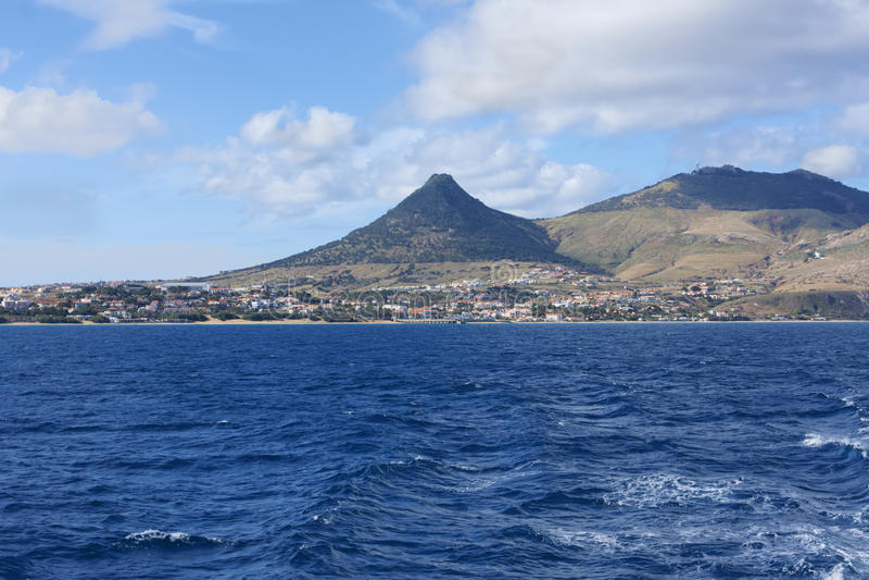 Ansicht der Insel Porto Santo im Atlantik portugal lizenzfreies stockbild